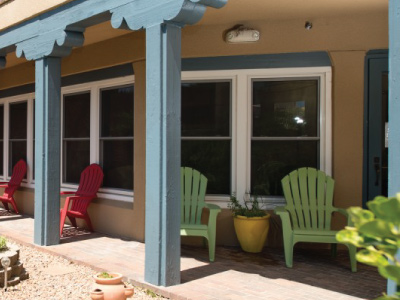yale ronald mcdonald house porch exterior