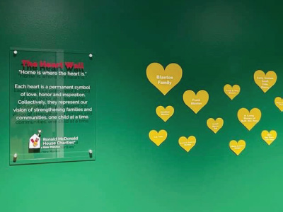 heart wall of donors