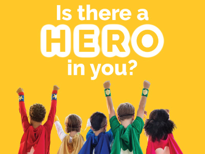 is there a hero in you with kids dressed as and pretending to be superheroes